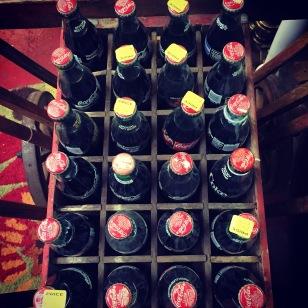 Louisiana. Old Coke bottles