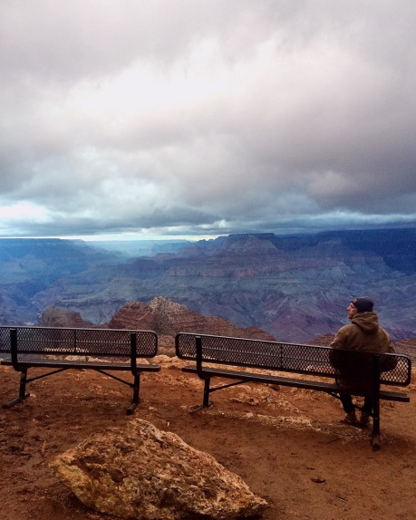 A man at the edge of the world