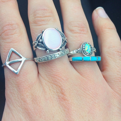 Added the turquoise to my daily rings
