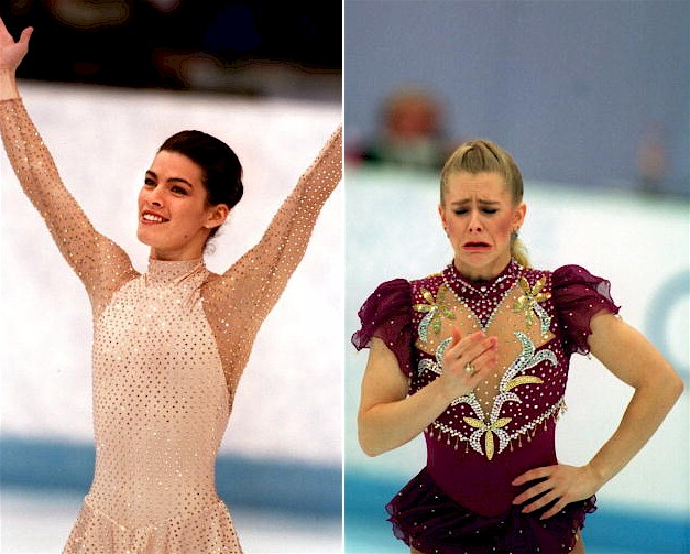 Nancy Kerrigan and Tonya Harding